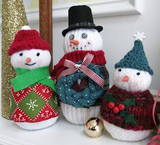Knitting Patterns Christmas Figures : The Fuzzy Lounge: Free Knitting Patterns: Knit Accessories for Sock Snowmen