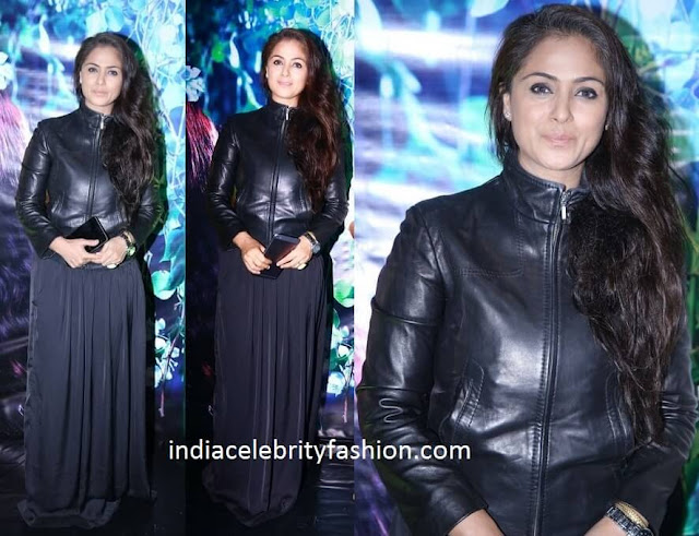 Simran in Black Jacket Dress