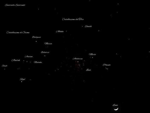Costellazione di Orione e Costellazione del Toro - 17 marzo 2021