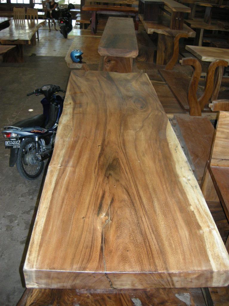 Indogemstone Monkey Pod Wood Table