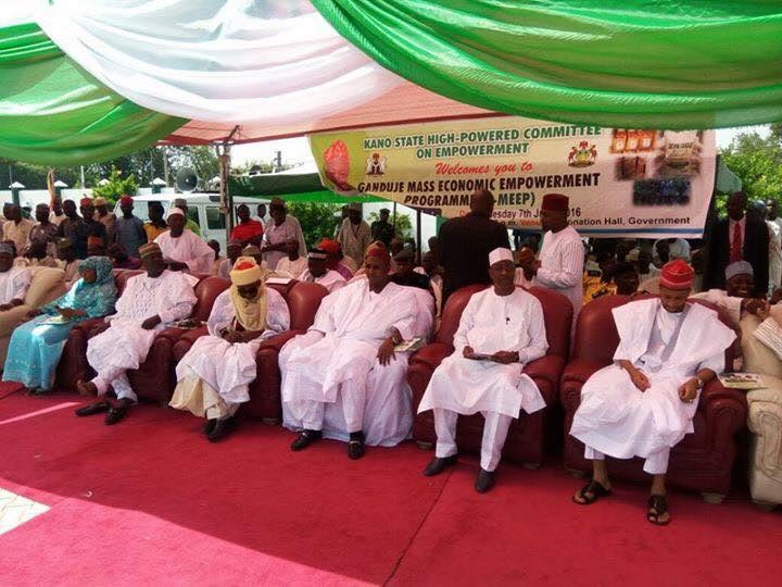 Governor Ganduje empowers 1560 women with bags of rice, generators, etc in Kano