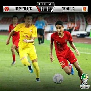 hasil timnas indonesia u 16 vs china kualifikasi piala asia 2020