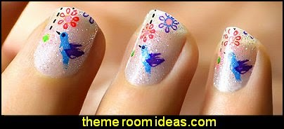 nail design ideas-nail decals-fun nail art ideas