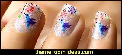 nail design ideas-nail decals-fun nail art ideas
