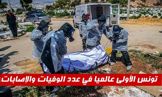تونس الأولى عالميا في عدد الوفيات والإصابات بفيروس كورونا