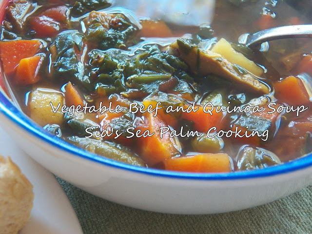 Vegetable Beef Quinoa Soup