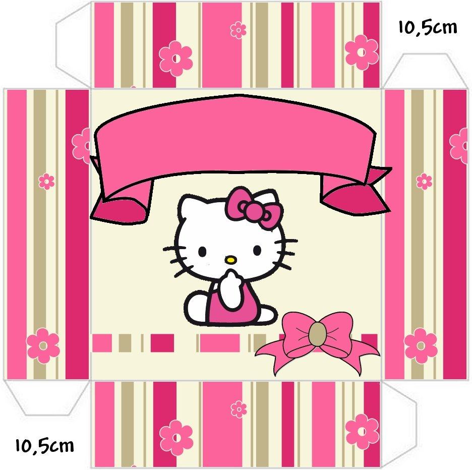 Hello kitty with flowers free printable boxes oh my - Casa hello kitty ...