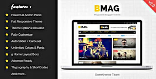 Bmag Blogger Template free Download |