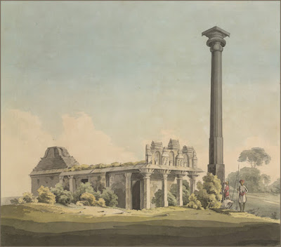 Ganigitti jaina Temple and Pillar at Vijayanagara