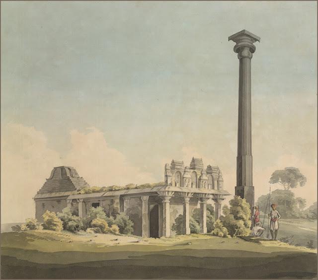 Ganigitti jaina Temple and Pillar at Vijayanagara