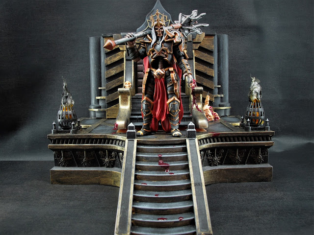 Leoric's Throne 3D printed Diorama - Painted by Grumpy Dude