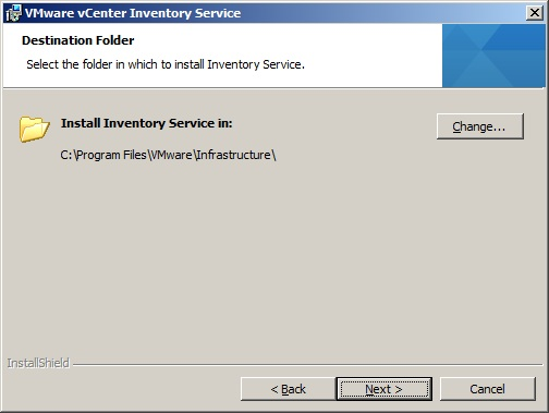 VMware vCenter Inventory Service Installation Step by Step