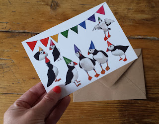 Party Puffins by Alice Draws The Line