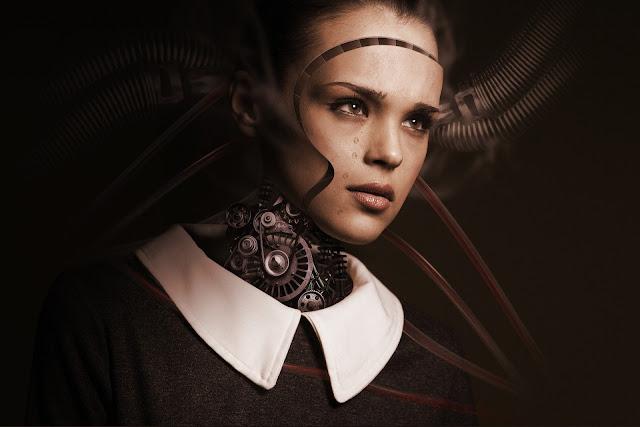 robot human machine woman