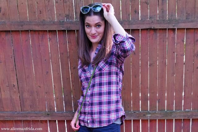plaid, pink, flannel shirt, style, fashion, summer, Alice Manfrida