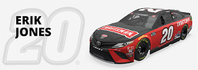 #20 Erik Jones - Joe Gibbs Racing Hot Streak #NASCAR