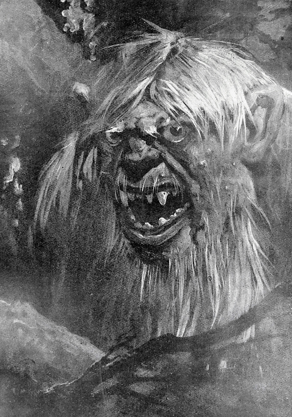 a Harry Rountree illustration of a monster ogre