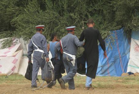 إعتقال عدد من الأشخاص في حملة تمشيطية واسعة بالنفوذ الترابي لأولادبرحيل