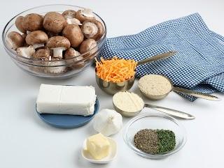 Cheesy Garlic Stuffed Mushrooms ingredients