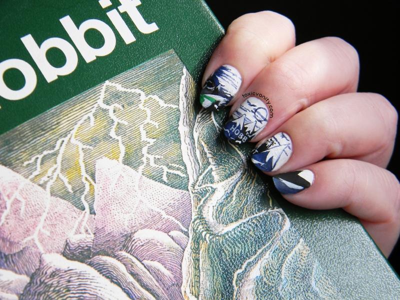 Uñas literarias: uñas decoradas de El Hobbit - Toxic Vanity