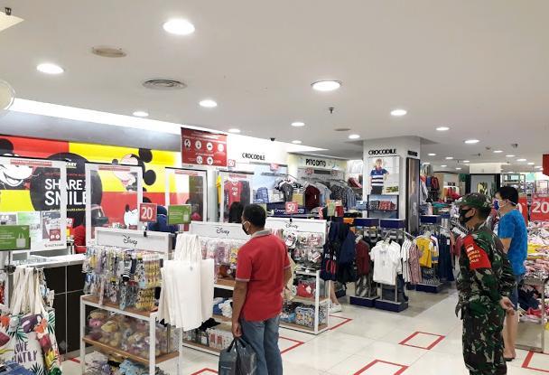 Satgas Covid19 Kota Balam Giatkan Penegakan Disiplin Protokoler kesehatan di Mall