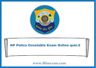 HP Police Constable Exam Online quiz-2