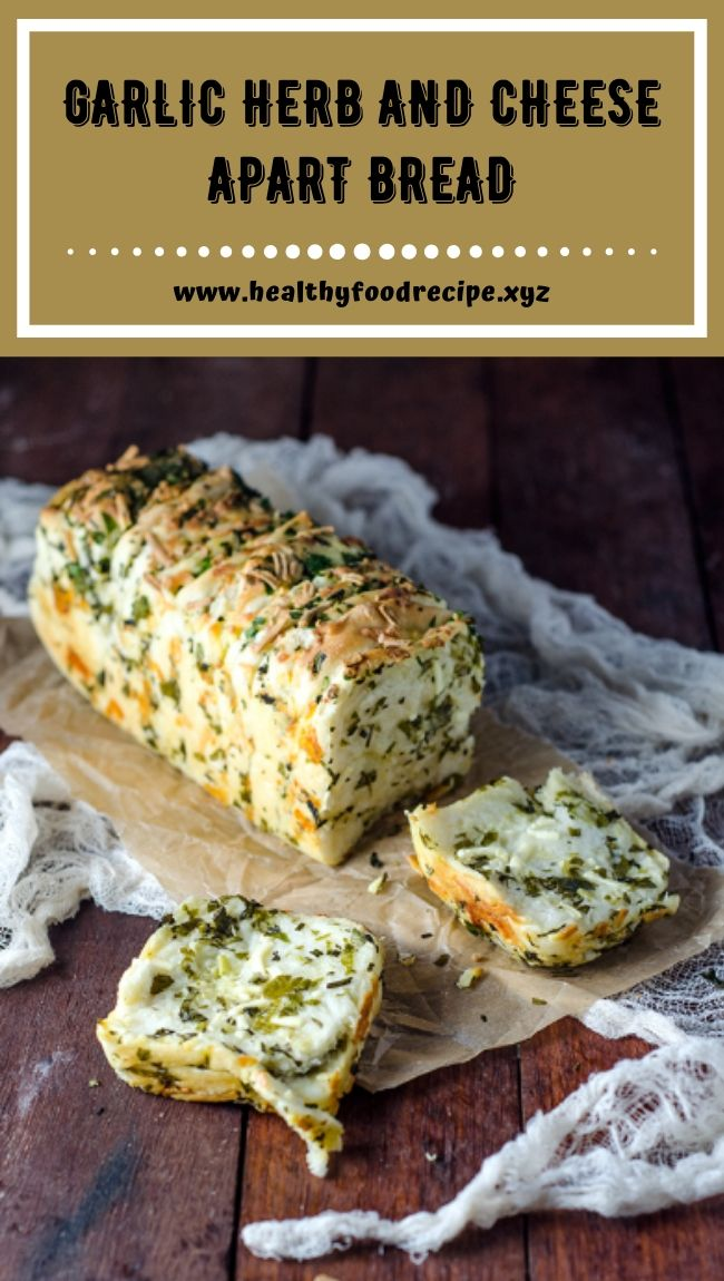 GARLIC HERB AND CHEESE APART BREAD