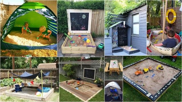 Διαμορφώσεις - Κατασκευές Κήπου με σημεία που τα παιδιά μπορούν να παίζουν με άμμο
