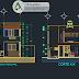 مخطط منزل دوبلكس بتصميم جميل اوتوكاد dwg