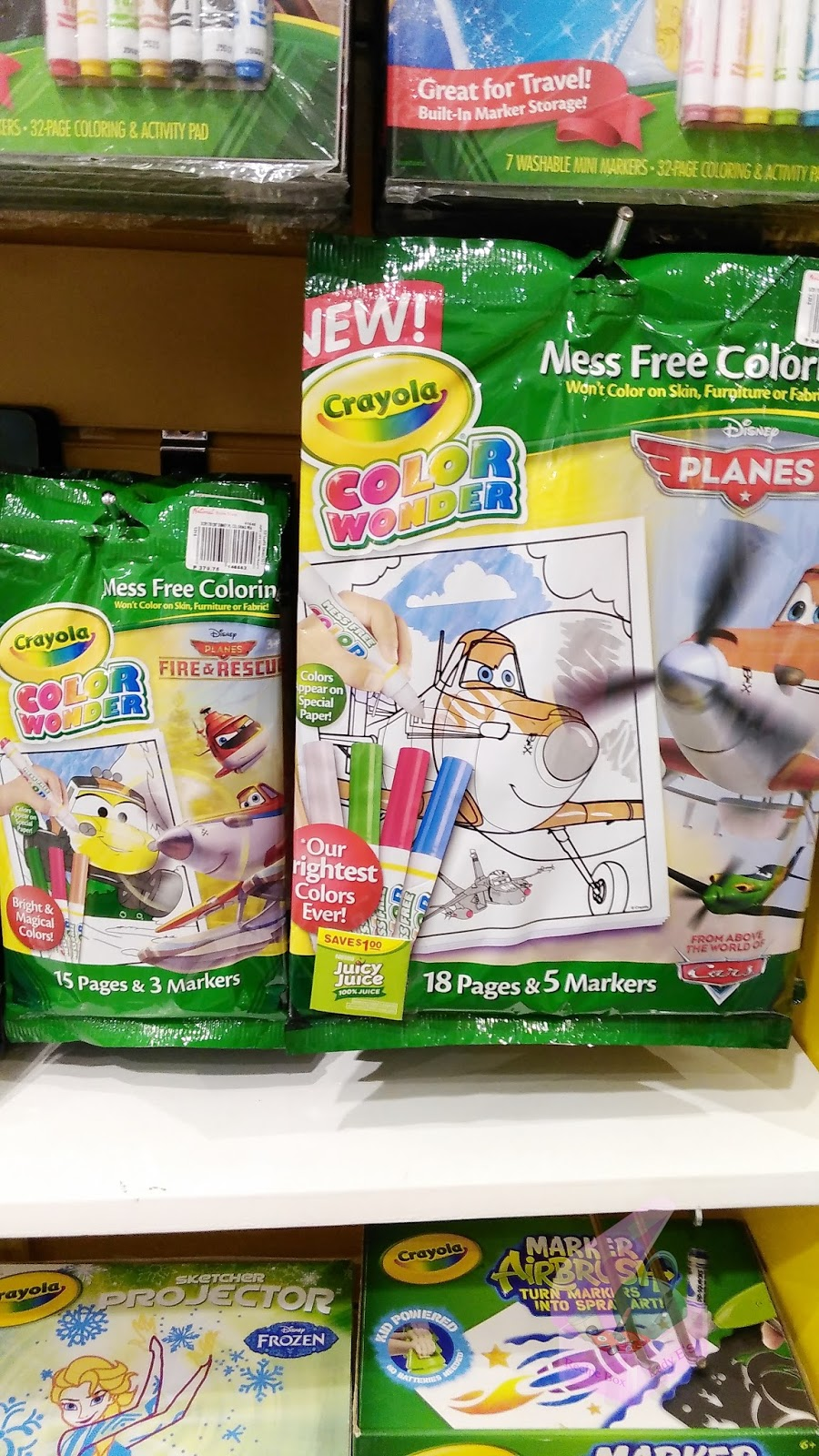 First Are These Crayola Mess Free Coloring Sheets