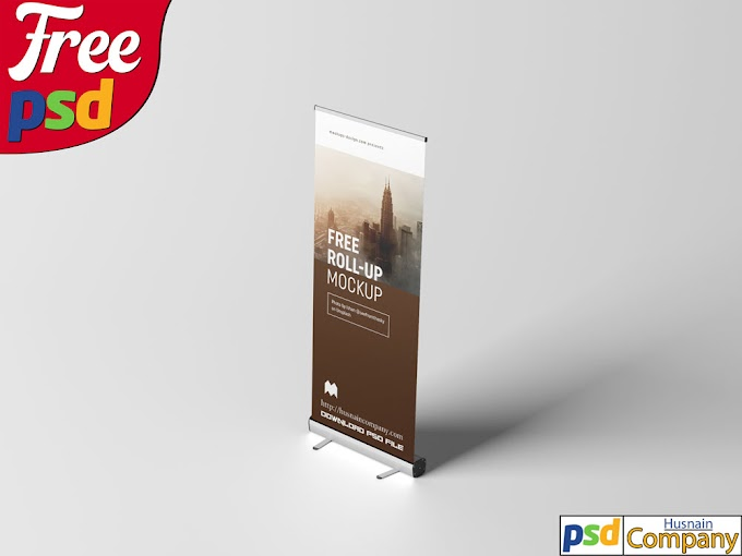 Download Free Roll-up PSD Mockup #3