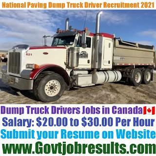 National Paving Dump Truck Driver Recruitment 2021-22