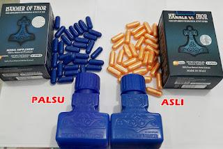Perbedaan Hammer Of Thor Asli dan Palsu - Ha-mmers Obat Herbal Stamina Pria Of Thor Asli - 30 Kapsul Gold