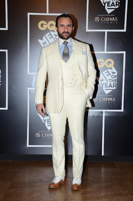 Saif Ali Khan, winner of the 'Most Stylish Award' at GQ Men of the Year Awards 2016