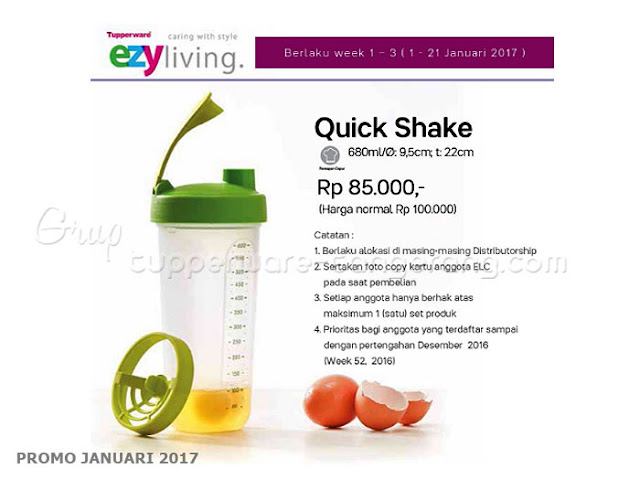 Quick Shake Promo Tupperware Januari 2017