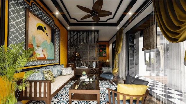 Phong cách lndochine dự án Sunshine Heritage Resort Financial Landmark Phúc Thọ Hà Nội Nét đẹp hoài niệm của văn hóa Á Đông
