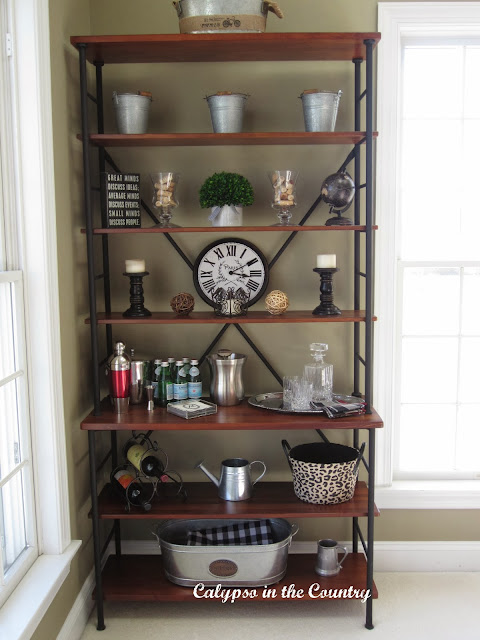 Sonoma Bookcase decorated for Fall