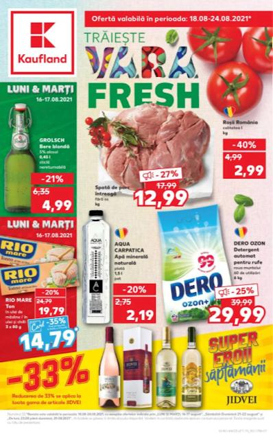 Kaufland Promotii + Catalog - Brosura 18-24.08 2021