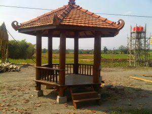 gambar gazebo minimalis dari kayu