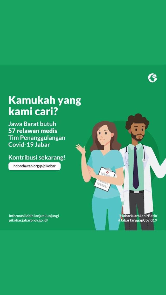 Jawa Barat Butuh 57 Relawan Medis Tim Penanggulamgan Covid-19
