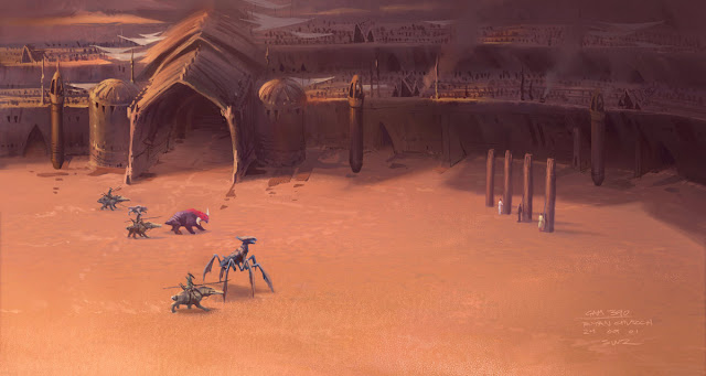 monsters in the area geonosis
