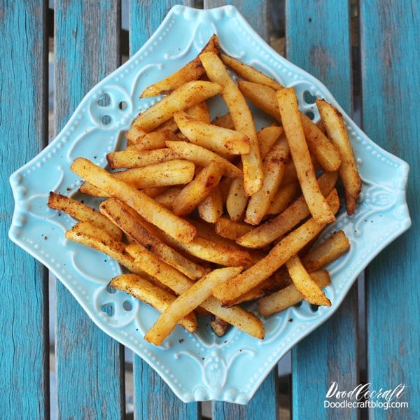 Crispy Seasoned Fries Recipe cooked in a Hamilton Beach 2.3 quart convection Air Fryer.
