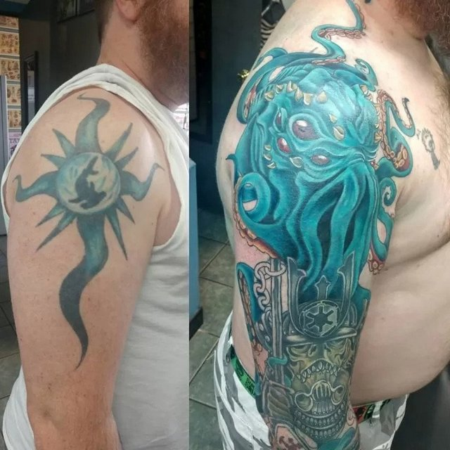 adding color to tattoo