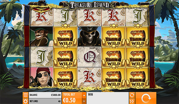 Main Slot Gratis Indonesia - Treasure Island (Quickspin)