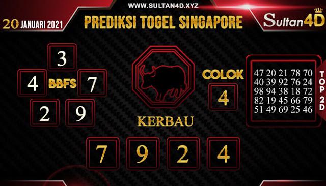 PREDIKSI TOGEL SINGAPORE SULTAN4D 20 JANUARI 2021