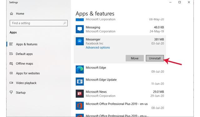 Cara Menghapus Aplikasi di Laptop di Windows 10