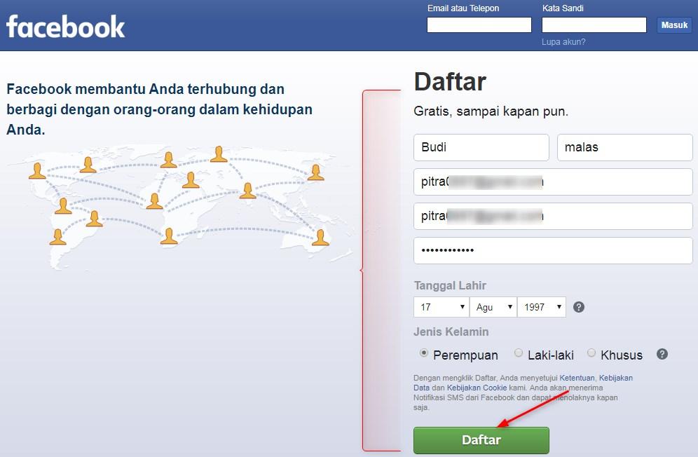 Daftar,membuat,Facebook