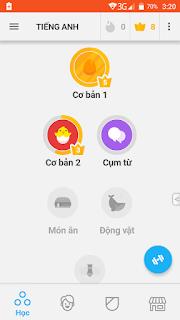 App học Tiếng anh cho điện thoại Android