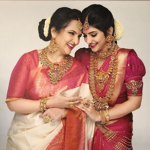 Mother and Daughter Temple Jewellery