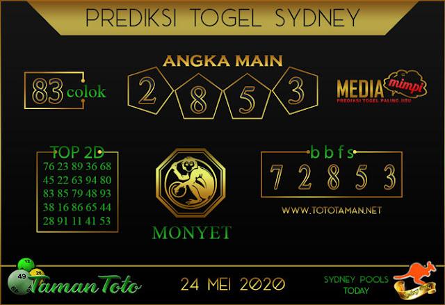 Prediksi Togel SYDNEY TAMAN TOTO 24 MEI 2020